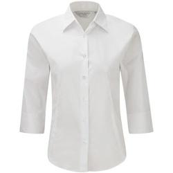vaatteet Naiset Paitapusero / Kauluspaita Russell 946F White