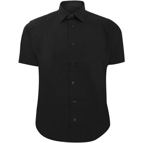 vaatteet Miehet Lyhythihainen paitapusero Russell 947M Black
