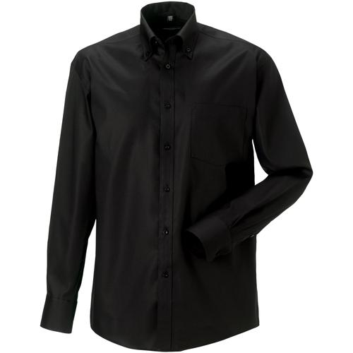 vaatteet Miehet Pitkähihainen paitapusero Russell 956M Black