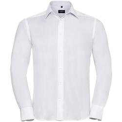 vaatteet Miehet Pitkähihainen paitapusero Russell 956M White