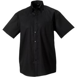 vaatteet Miehet Lyhythihainen paitapusero Russell 957M Black
