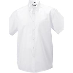 vaatteet Miehet Pitkähihainen paitapusero Russell 957M White