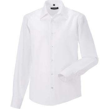 vaatteet Miehet Pitkähihainen paitapusero Russell 958M White