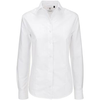 vaatteet Naiset Paitapusero / Kauluspaita B And C SWO03 White