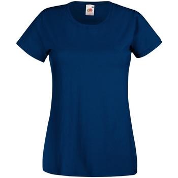 vaatteet Naiset Lyhythihainen t-paita Fruit Of The Loom 61372 Navy
