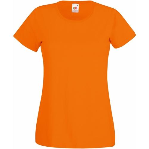 vaatteet Naiset Lyhythihainen t-paita Fruit Of The Loom 61372 Orange
