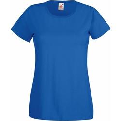 vaatteet Naiset Lyhythihainen t-paita Fruit Of The Loom 61372 Royal