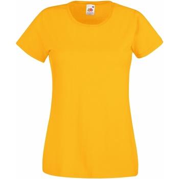 vaatteet Naiset Lyhythihainen t-paita Fruit Of The Loom 61372 Sunflower