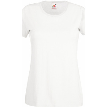 vaatteet Naiset Lyhythihainen t-paita Fruit Of The Loom 61372 White