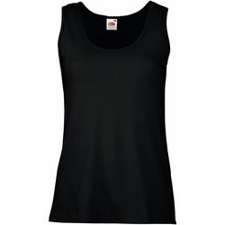 vaatteet Naiset Hihattomat paidat / Hihattomat t-paidat Fruit Of The Loom 61376 Black