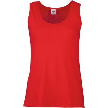 vaatteet Naiset Hihattomat paidat / Hihattomat t-paidat Fruit Of The Loom 61376 Red