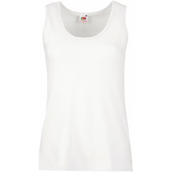 vaatteet Naiset Hihattomat paidat / Hihattomat t-paidat Fruit Of The Loom 61376 White