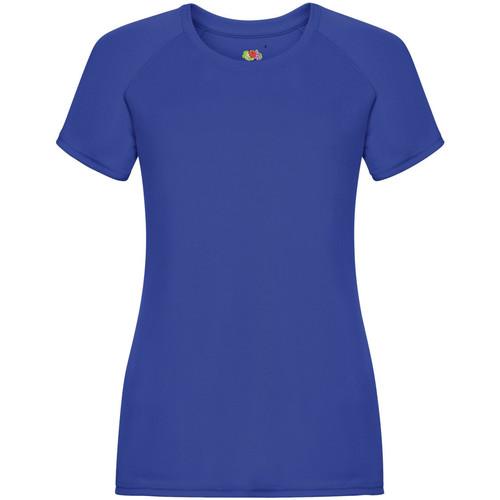 vaatteet Naiset Lyhythihainen t-paita Fruit Of The Loom 61392 Royal