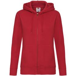 vaatteet Naiset Svetari Fruit Of The Loom 62118 Red