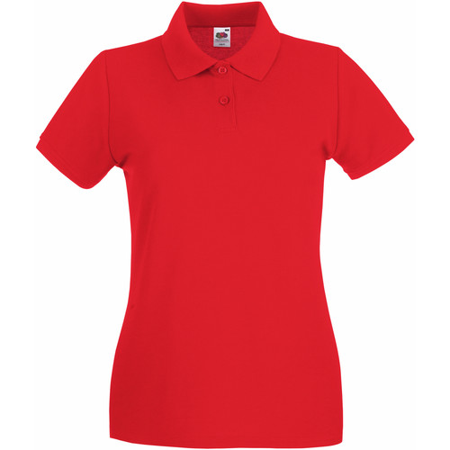 vaatteet Naiset Lyhythihainen poolopaita Fruit Of The Loom 63030 Red