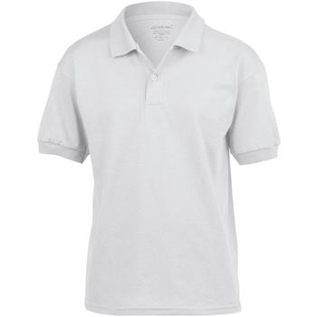 vaatteet Lapset Lyhythihainen poolopaita Gildan 8800B White