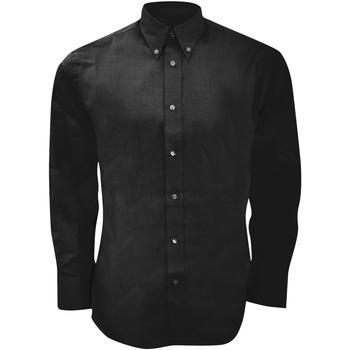 vaatteet Miehet Pitkähihainen paitapusero Kustom Kit KK188 Black
