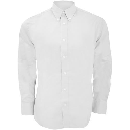 vaatteet Miehet Pitkähihainen paitapusero Kustom Kit KK188 White
