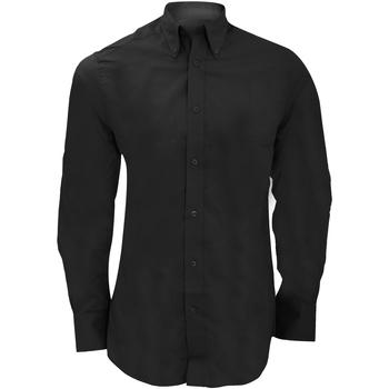 vaatteet Miehet Pitkähihainen paitapusero Kustom Kit KK386 Black
