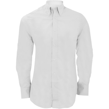 vaatteet Miehet Pitkähihainen paitapusero Kustom Kit KK386 White