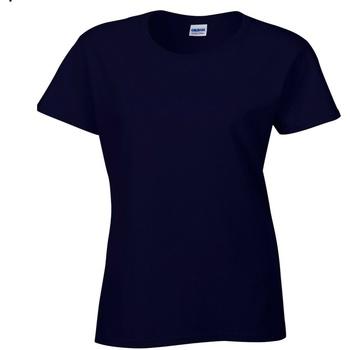 vaatteet Naiset Lyhythihainen t-paita Gildan Missy Fit Navy