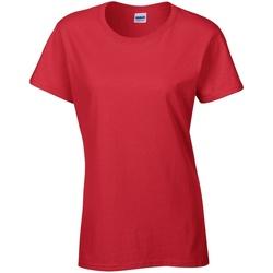 vaatteet Naiset Lyhythihainen t-paita Gildan Missy Fit Red