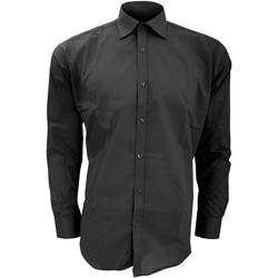 vaatteet Miehet Pitkähihainen paitapusero Kustom Kit KK192 Black
