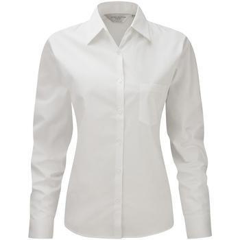 vaatteet Naiset Paitapusero / Kauluspaita Russell Work White