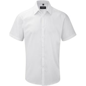 vaatteet Miehet Lyhythihainen paitapusero Russell 963M White