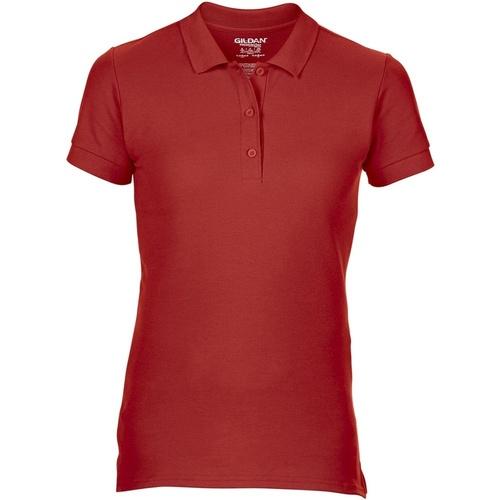 vaatteet Naiset Lyhythihainen poolopaita Gildan 85800L Red