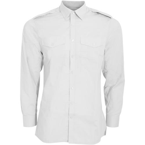vaatteet Miehet Pitkähihainen paitapusero Kustom Kit KK134 White