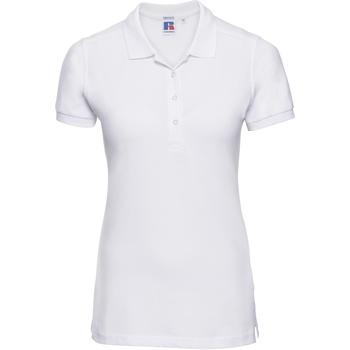 vaatteet Naiset Lyhythihainen poolopaita Russell 566F White