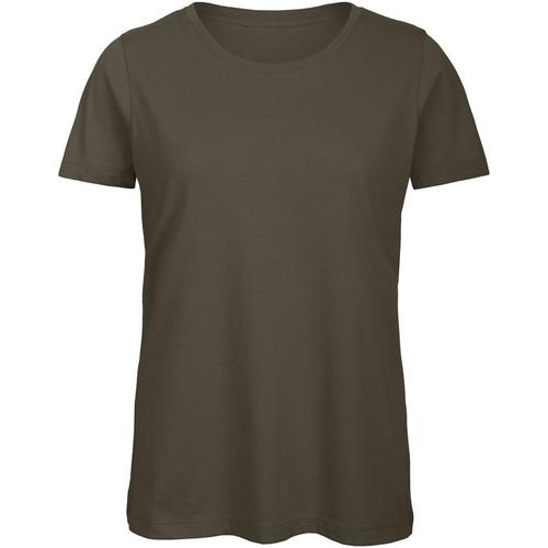 vaatteet Naiset Lyhythihainen t-paita B And C TW043 Khaki