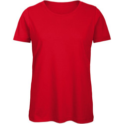 vaatteet Naiset Lyhythihainen t-paita B And C TW043 Red