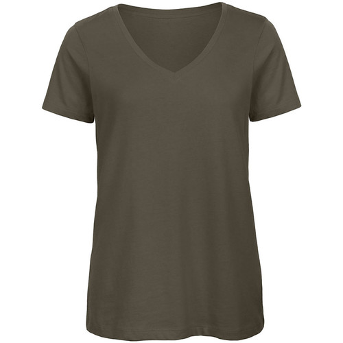 vaatteet Naiset Lyhythihainen t-paita B And C Organic Khaki