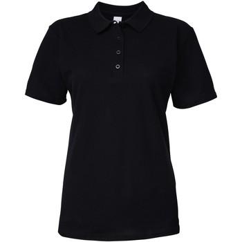 vaatteet Naiset Lyhythihainen poolopaita Gildan 64800L Black