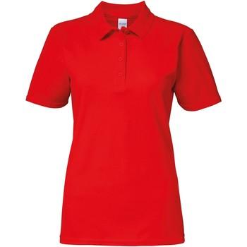 vaatteet Naiset Lyhythihainen poolopaita Gildan 64800L Red
