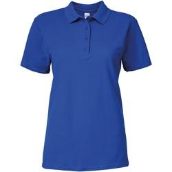 vaatteet Naiset Lyhythihainen poolopaita Gildan 64800L Royal