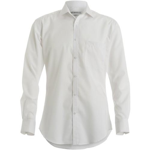 vaatteet Miehet Pitkähihainen paitapusero Kustom Kit KK113 White