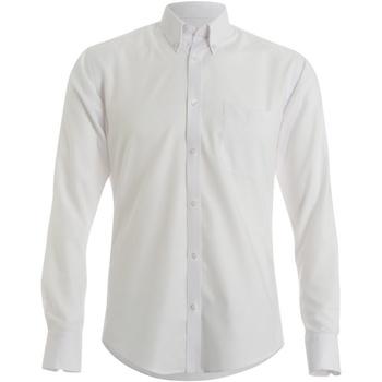 vaatteet Miehet Pitkähihainen paitapusero Kustom Kit KK139 White