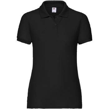 vaatteet Naiset Lyhythihainen poolopaita Fruit Of The Loom 63212 Black