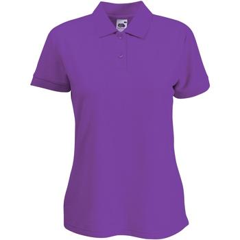 vaatteet Naiset Lyhythihainen poolopaita Fruit Of The Loom 63212 Purple