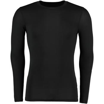 vaatteet Miehet T-paidat pitkillä hihoilla Gamegear Warmtex Black