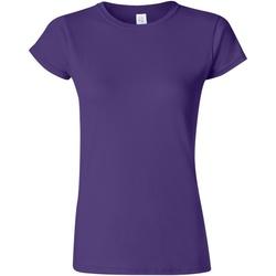 vaatteet Naiset Lyhythihainen t-paita Gildan Soft Purple