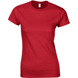 vaatteet Naiset Lyhythihainen t-paita Gildan Soft Red