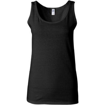 vaatteet Naiset Hihattomat paidat / Hihattomat t-paidat Gildan 64200L Black
