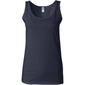 vaatteet Naiset Hihattomat paidat / Hihattomat t-paidat Gildan 64200L Navy