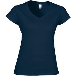vaatteet Naiset Lyhythihainen t-paita Gildan Soft Style Navy