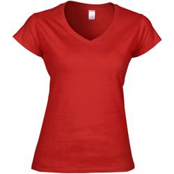 vaatteet Naiset Lyhythihainen t-paita Gildan Soft Style Red