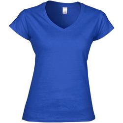 vaatteet Naiset Lyhythihainen t-paita Gildan Soft Style Royal